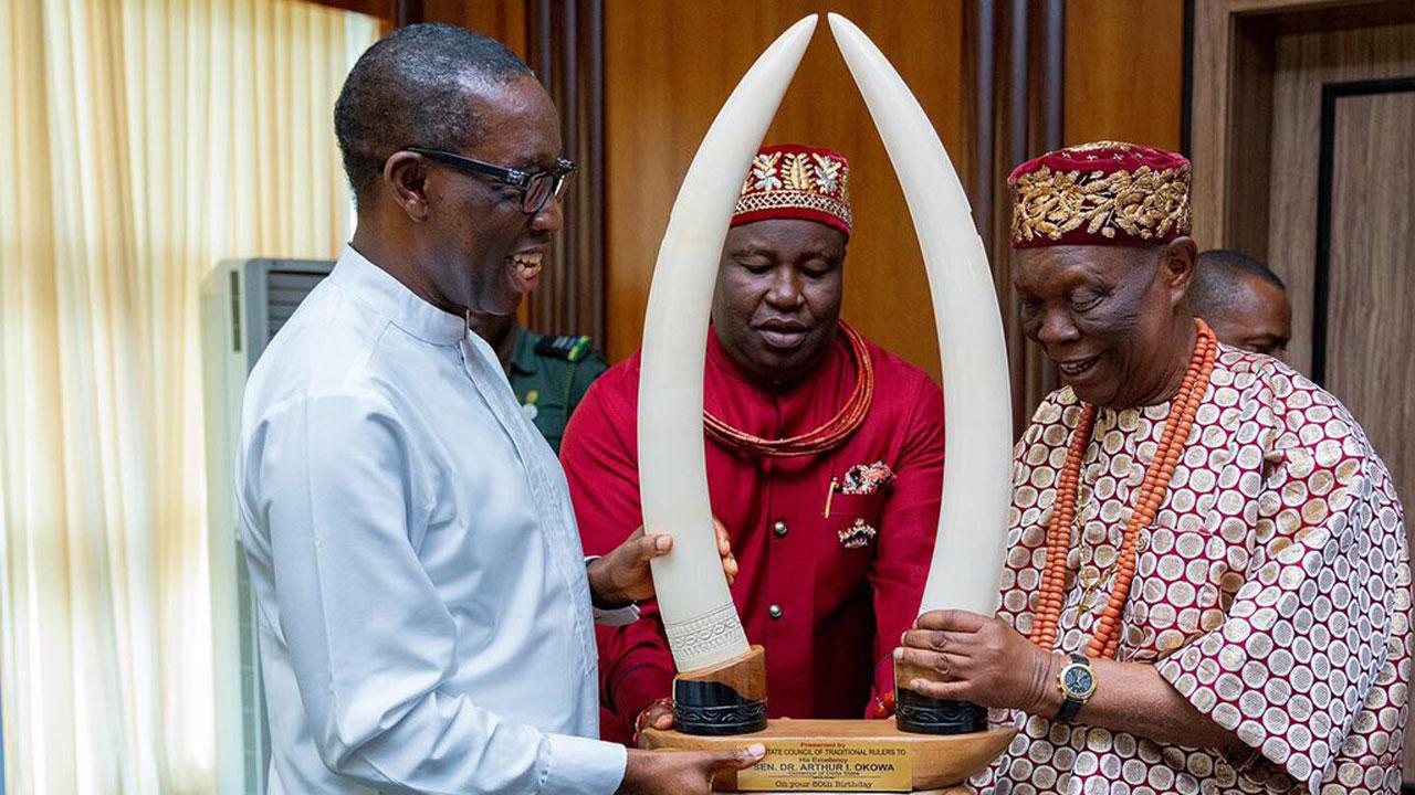 Okowa extols Owa monarch on 61st coronation anniversary