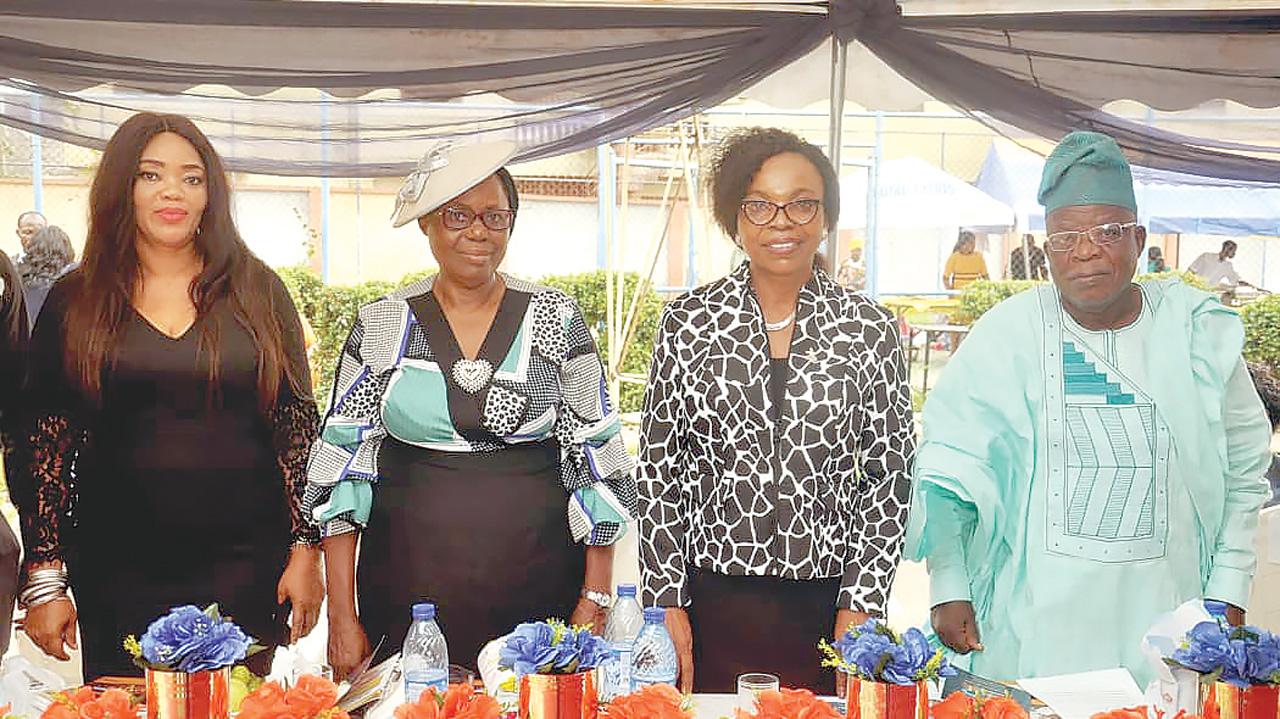 Chairperson, Ronik School, Mrs. Ada Okafor (left); Deputy MD, Ronik Group of Schools, Mrs. Juliana Ataoye; Principal, Mrs. Victoria Duru; and Chairman, Board of Governors, Mr. Ola Solomon at the event. Photo: Guardian Nigeria