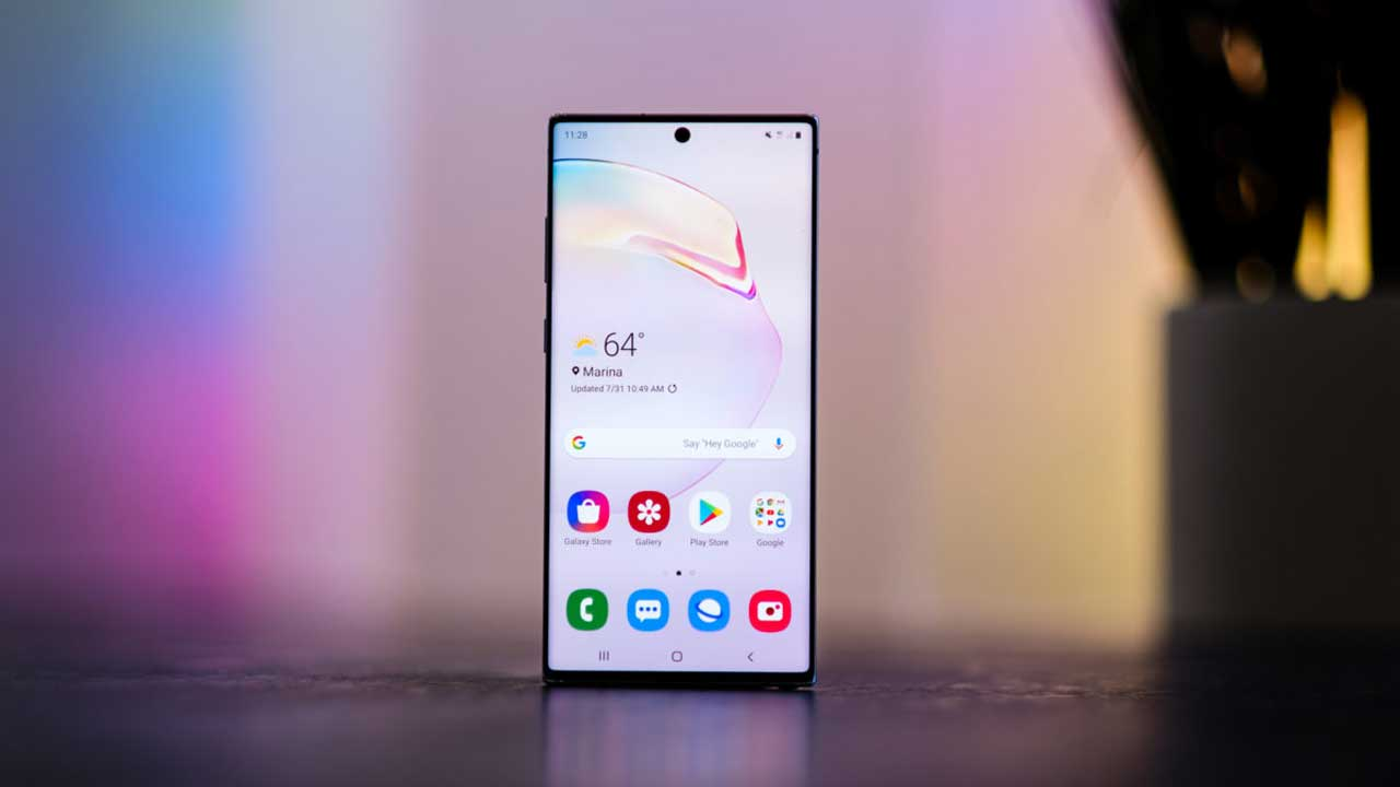 Galaxy Note 10 shows 5G quality 1