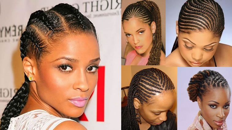 Cornrow hairstyles for black women natural hair 2018-2019