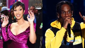 Cardi B and Travis Scott