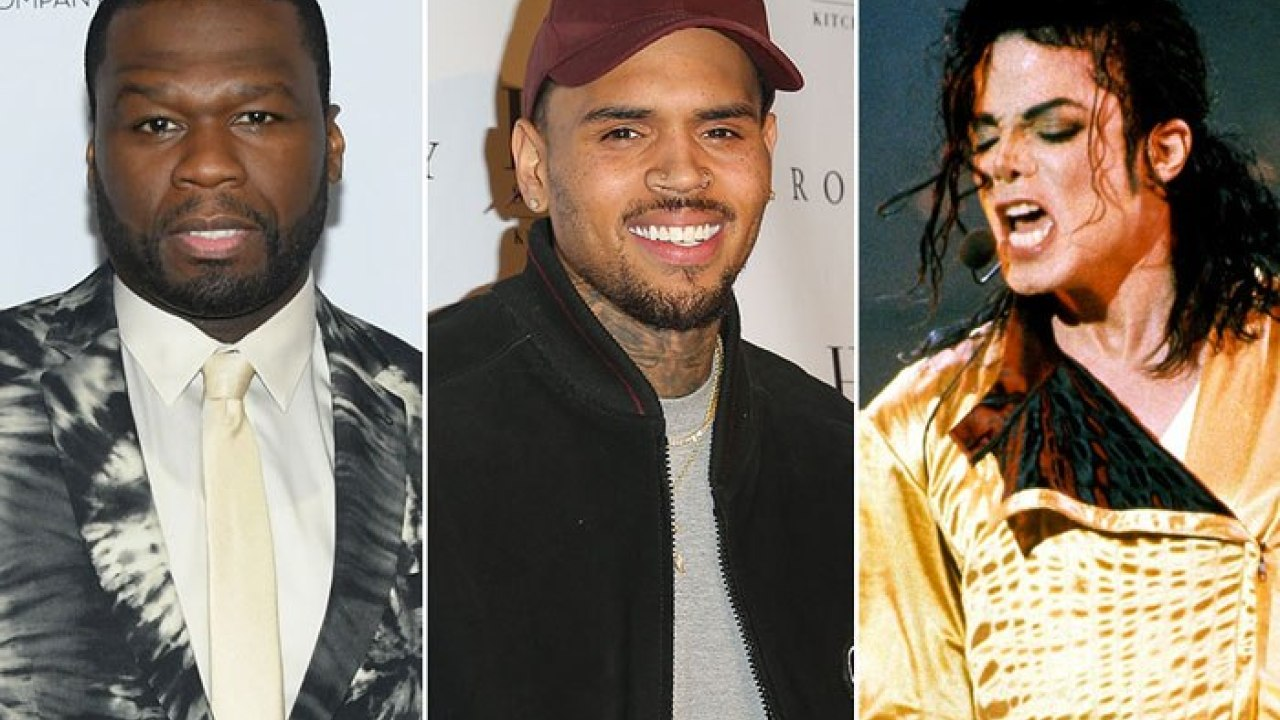 50 Cent, Chris Brown and Michael Jackson