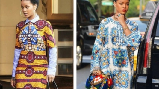 Rihanna in African prints