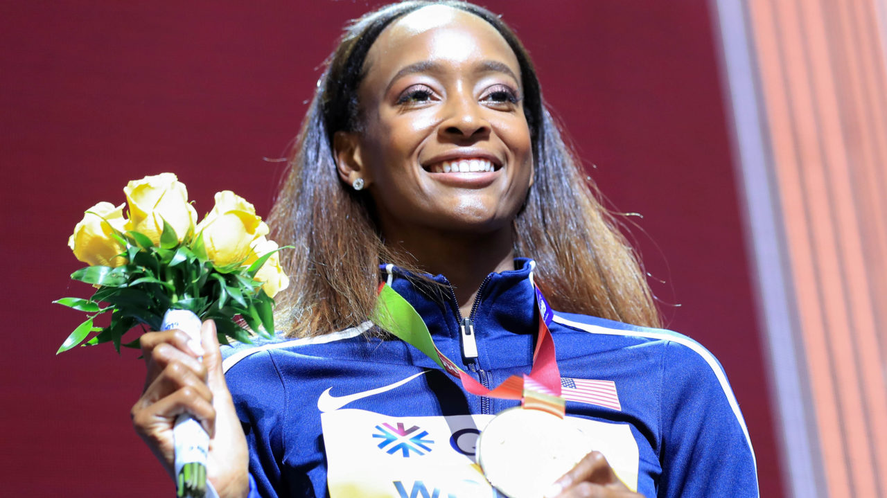 Muhammad wins 400m hurdles gold with world record
