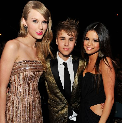 Taylor Swift, Justin Boeber and Selena Gomez