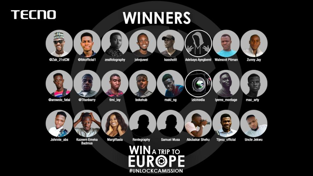 24 persons in the final of TECNO's Camon 12 CAMission competition