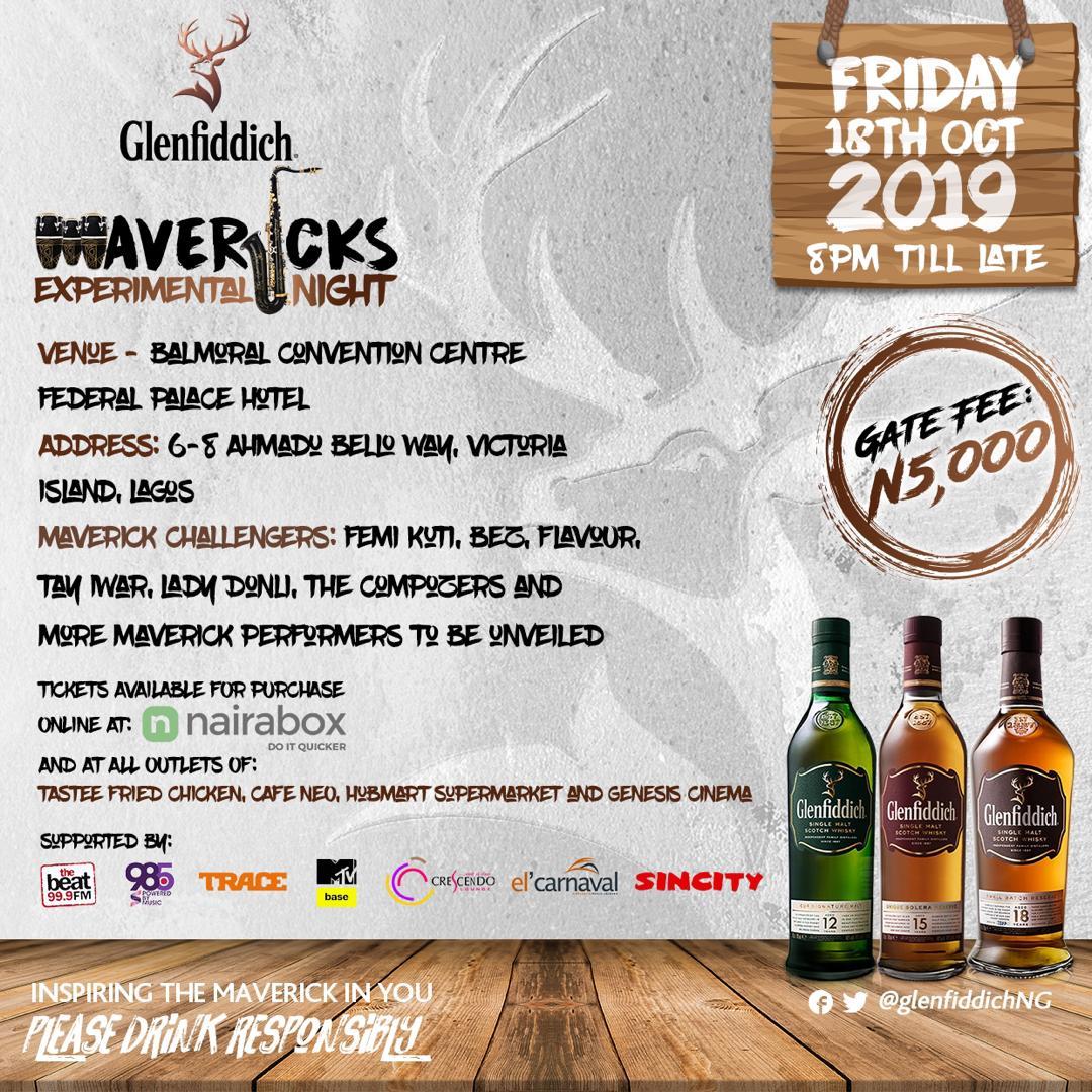 Femi Kuti, Flavour to perform at Glenfiddich Mavericks Experimental Night