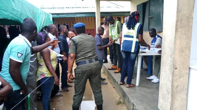 Rain distrupts voting at polling units in Yenagoa - Guardian
