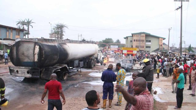 Petrol tanker bursts into flame in Lagos - Guardian