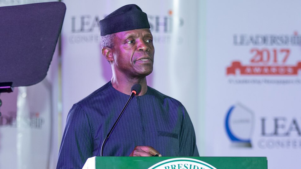 Osinbajo launches campaign against open defecation