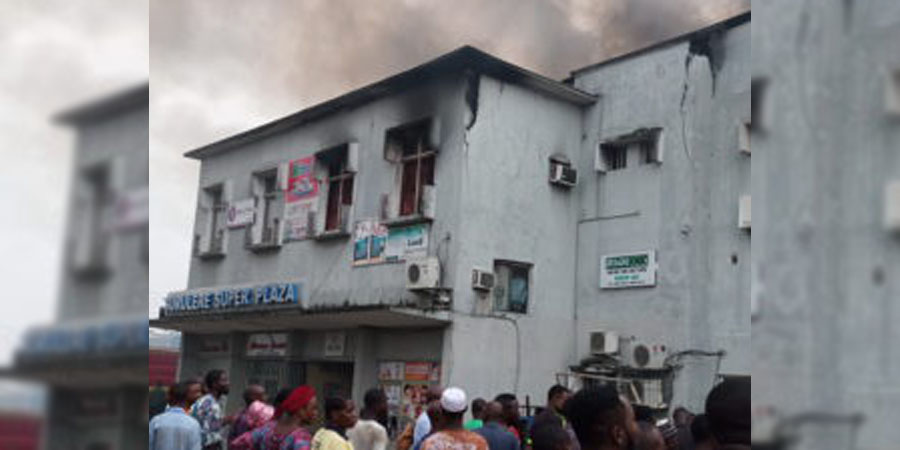 Surulere Super Plaza gutted by fire in Lagos | The Guardian Nigeria News - Nigeria and World News