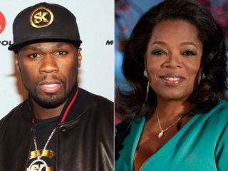 50 Cent and Oprah Winfrey