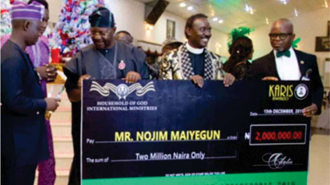 Image result for OLYMPIC MEDALIST NOJIM MAIYEGUN BECOMES LATEST RECIPIENT of 2019 KARIS AWARD