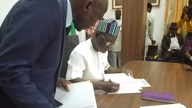 Image result for Governor Samuel Ortom signs N189bn budget into law