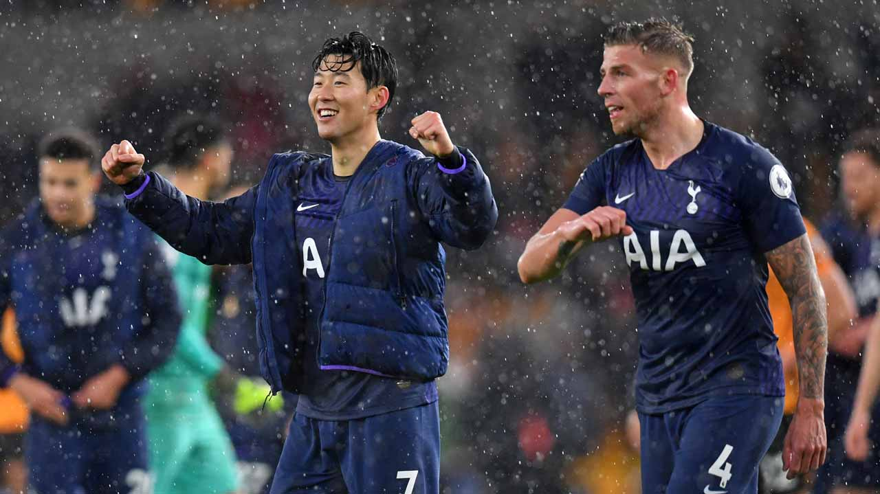 Tottenham up to fifth after late win at Wolves