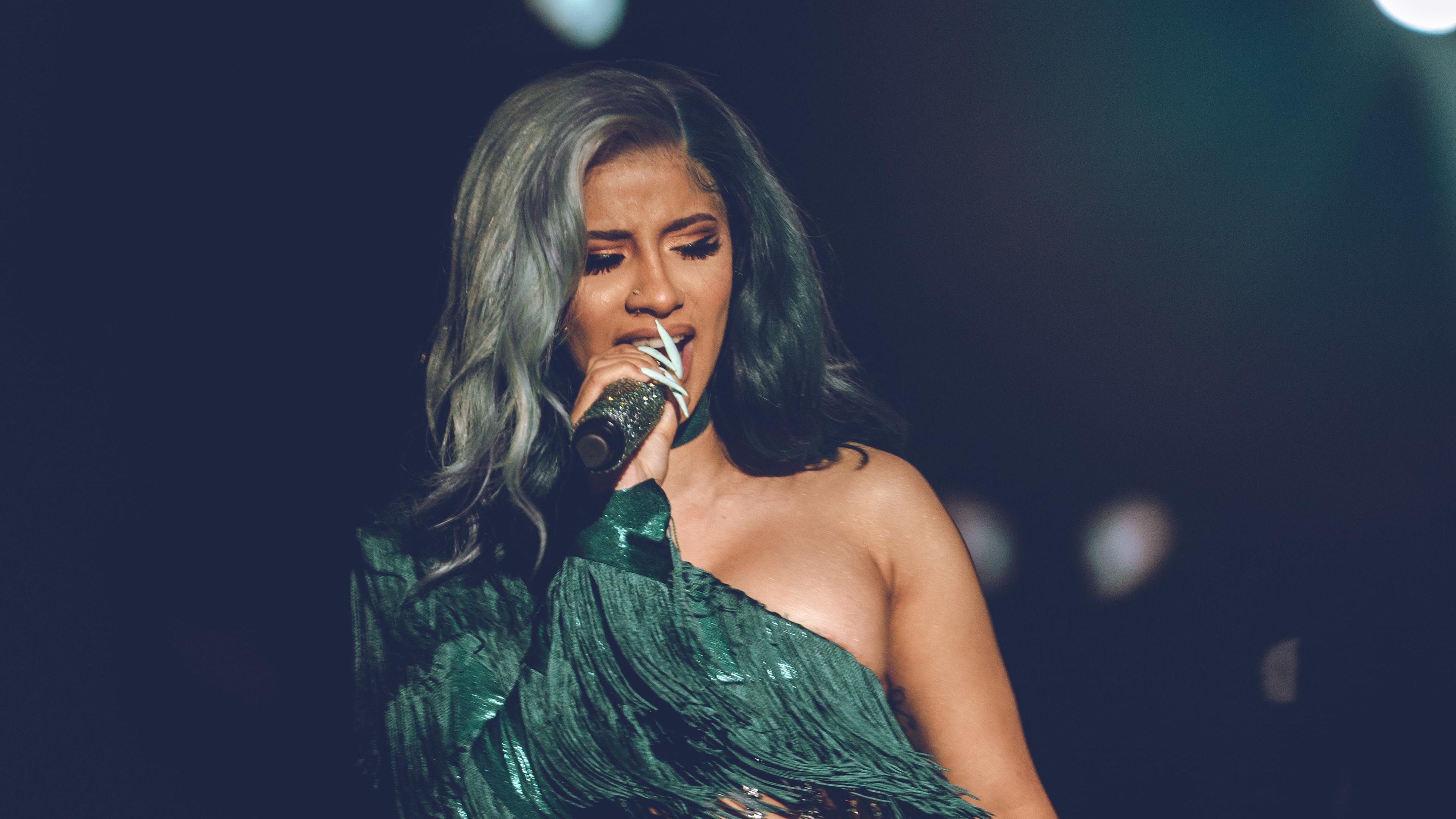 Cardi B on stage during her performance in Lagos, Nigeria | Image: Faje Kashope - @thekashope