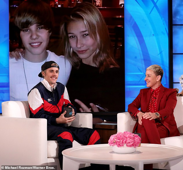 Justin Bieber and Ellen