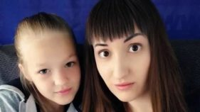 Maria Russkikh and her daughter