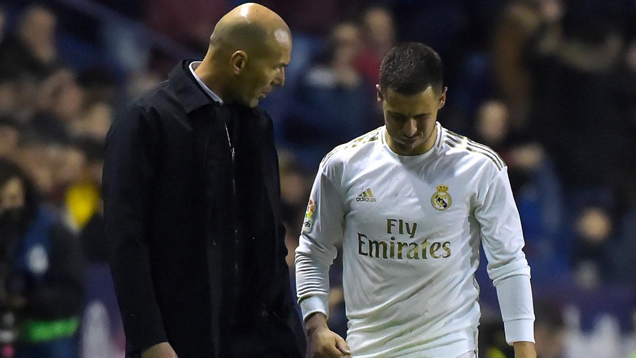 Zidane casts doubt on Hazard return this season