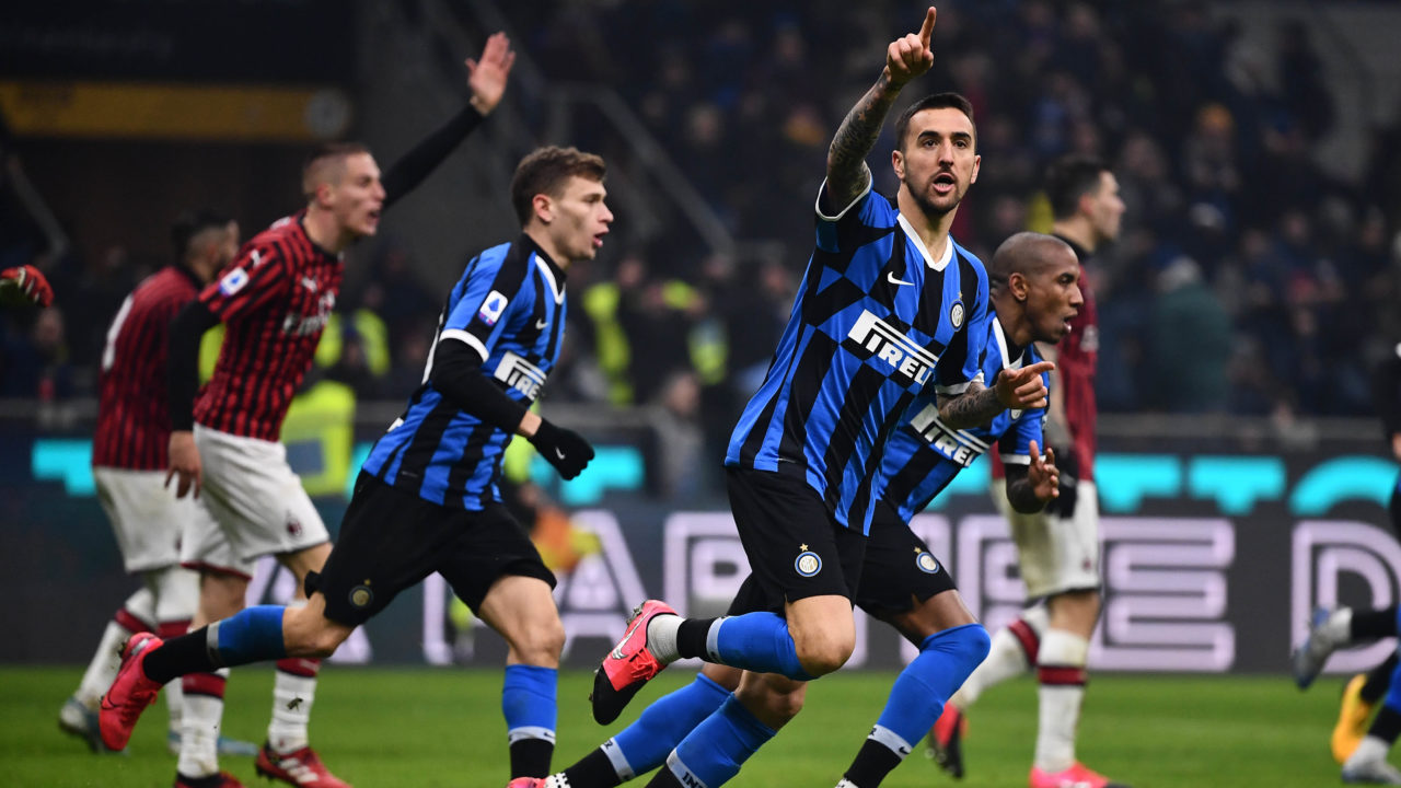 Inter Win Thrilling Milan Derby To Move Top Of Serie