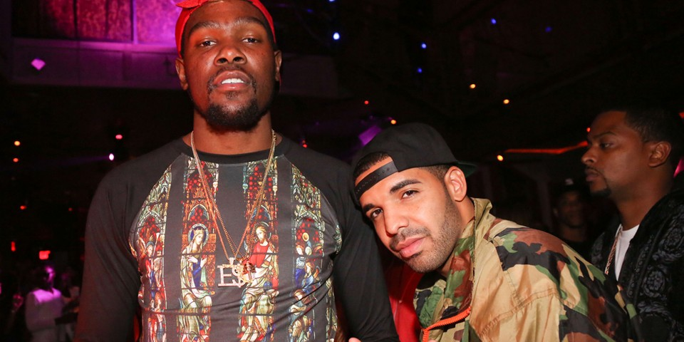 Drake and Kevin Durant