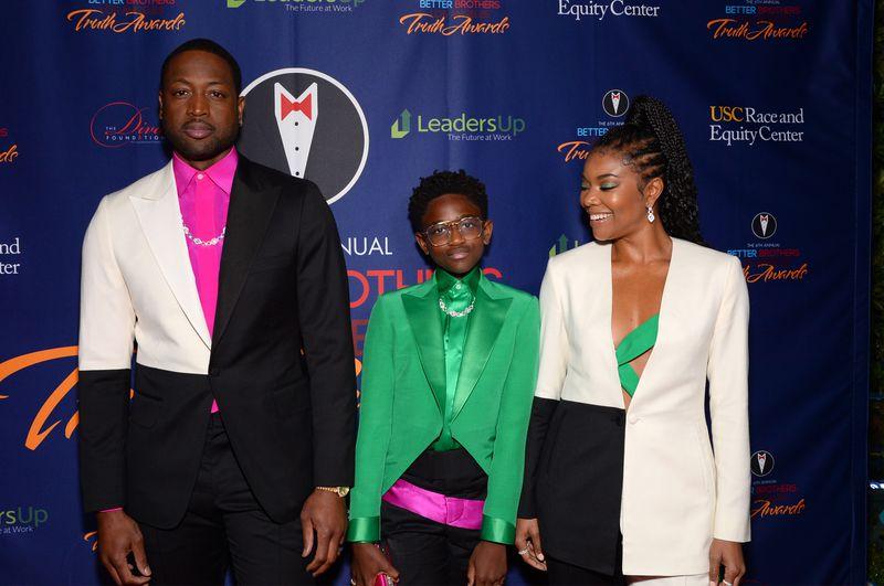 Dwyane Wade, Zaya and Gabrielle Union