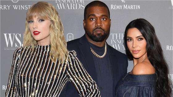 Taylor Swift, Kanye West and Kim Kardashia