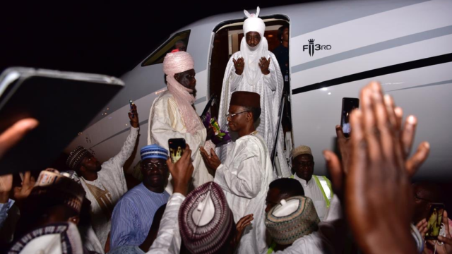 Sanusi arrives in Lagos after spending days in exileNigeria - Guardian Nigeria