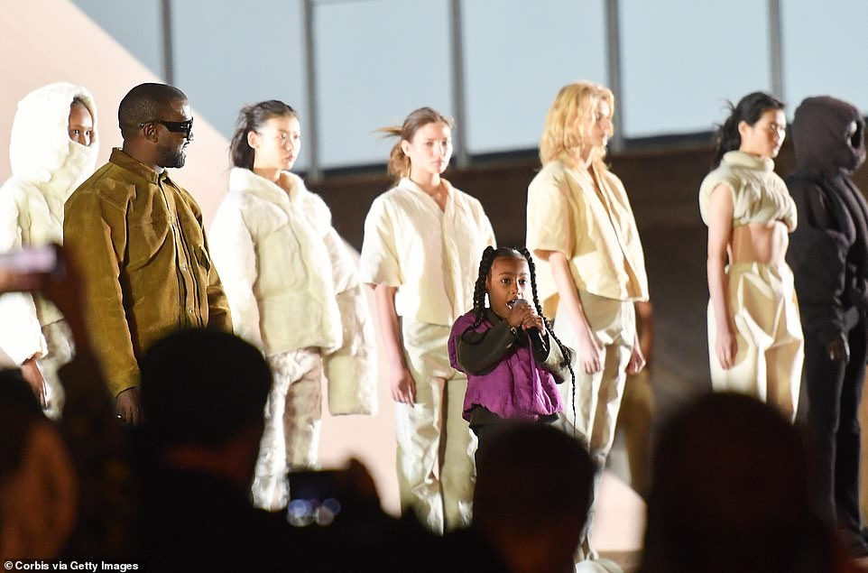 North West steals Kanye West's Paris show by showing off rapping skills