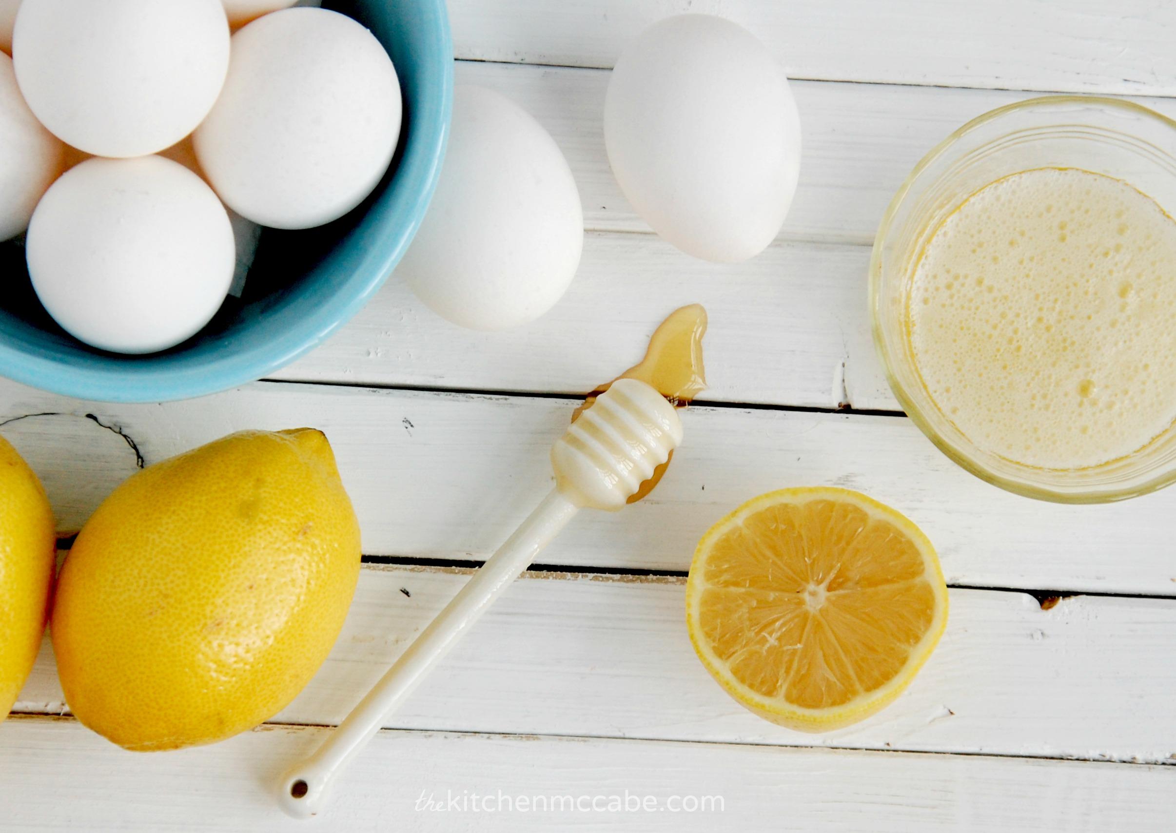 Honey, lemon egg and white mask. Photo The Kitchen McCabe