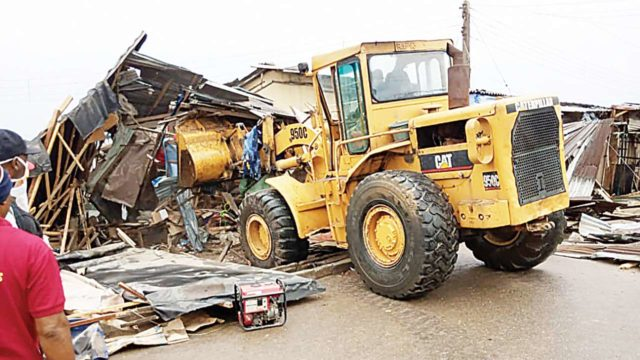 Bayelsa government begins demolition of illegal structures in markets - Guardian
