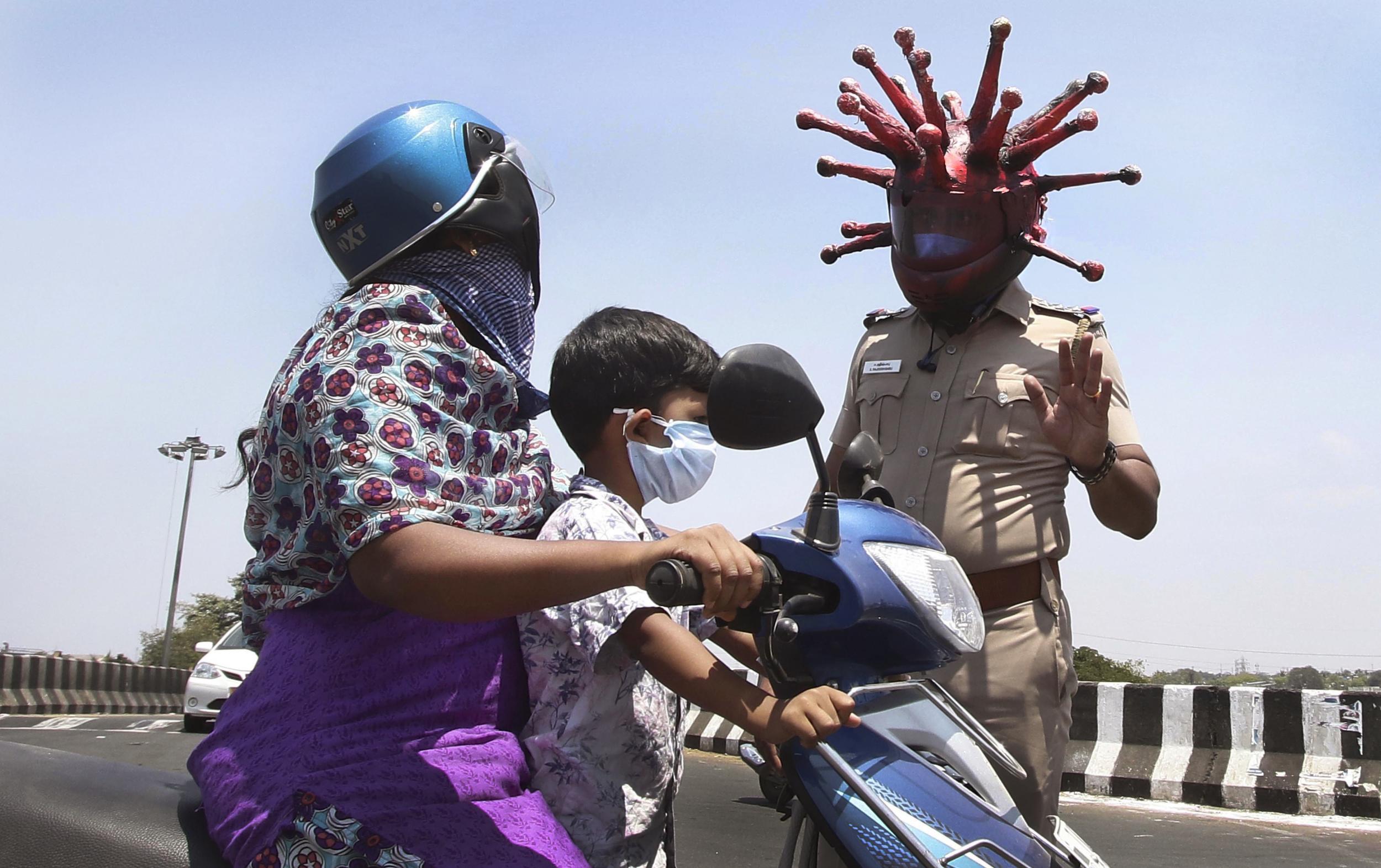 coronavirus helmet