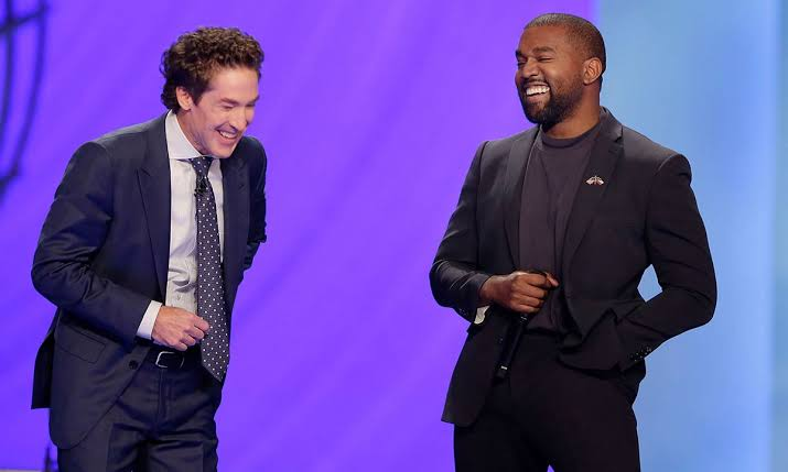 Kanye West Joins Televangelist Joel Osteen For Easter Service