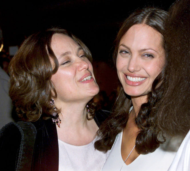 Angelina Jolie and her late mother
