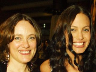 Angelina Jolie and her mother