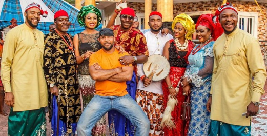 A section of the cast of LIB with Ramsey Nouah