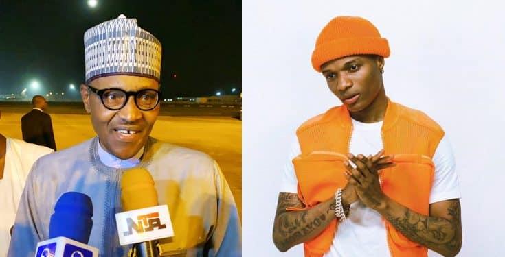 President Muhammadu Buhari and Wizkid