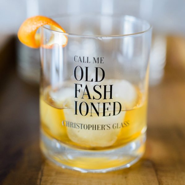 Customised glass old fashioned