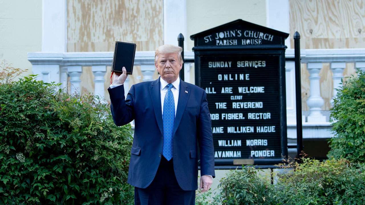 Trump angers American religious leaders with Bible photo op