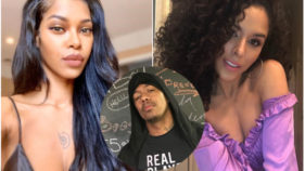 Jessica White, Nick Cannon and Brittany Bell