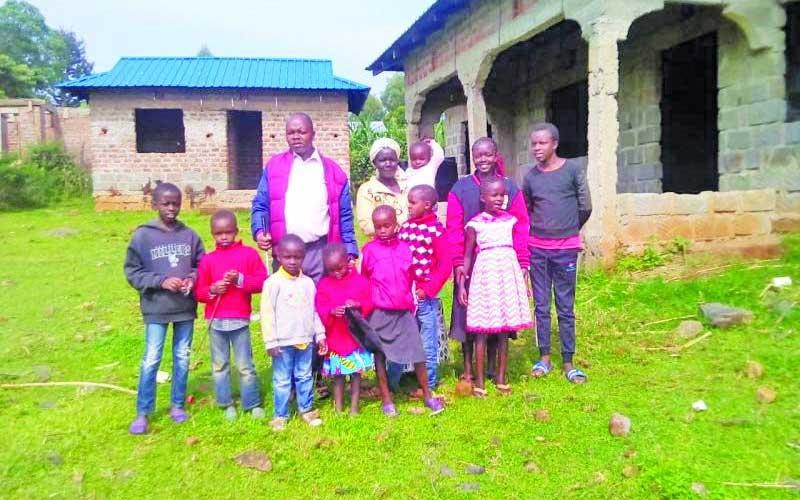 Moses Mandangura with his family