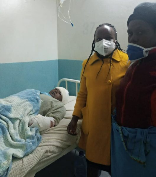 Purity Muthoki in hospital