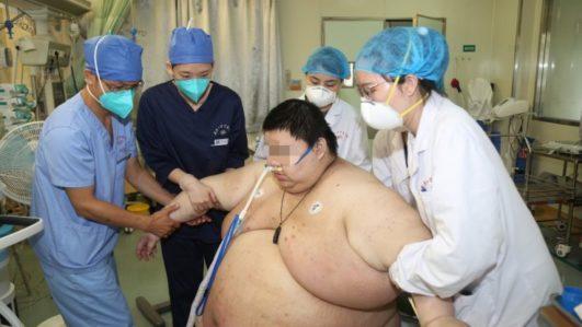 Zhou at the hospital