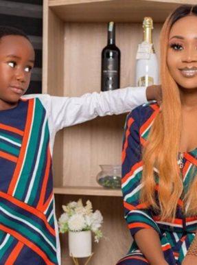 Akuapem Poloo and her son