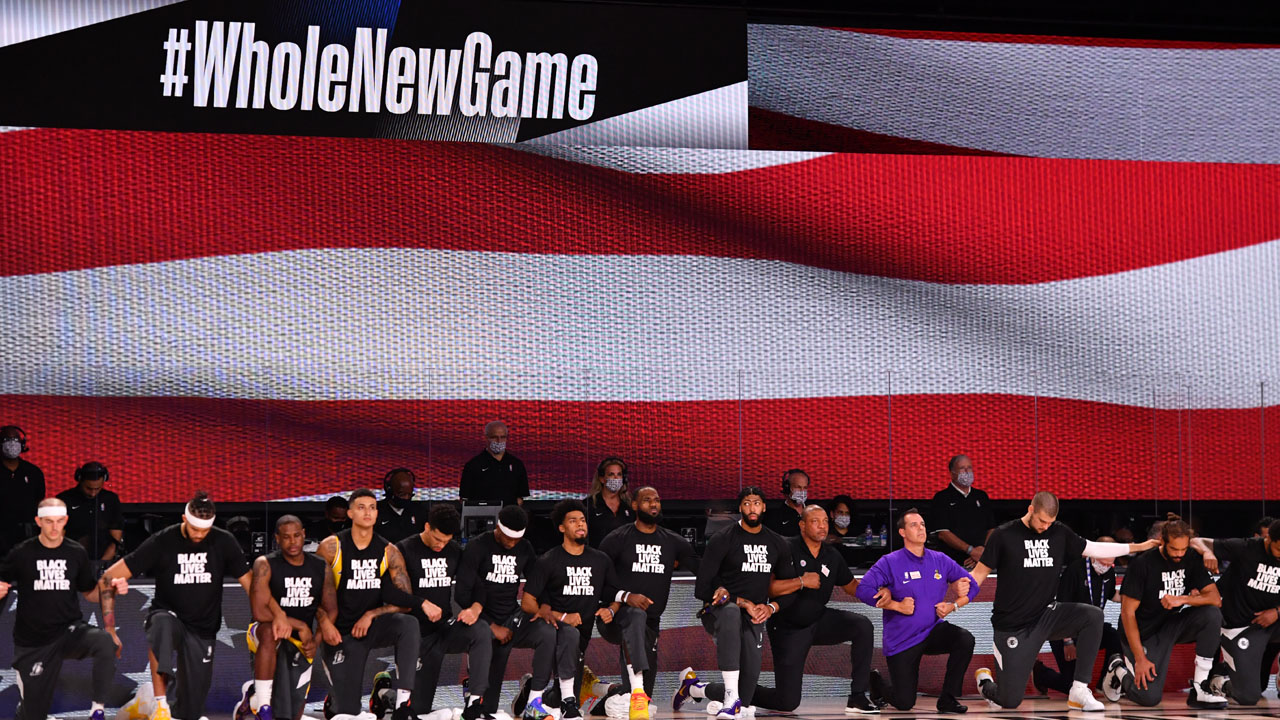 Players Kneel During Anthem As Nba Restarts In Floridasport The Guardian Nigeria News Nigeria And World News