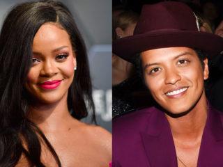 Rihanna and Bruno Mars