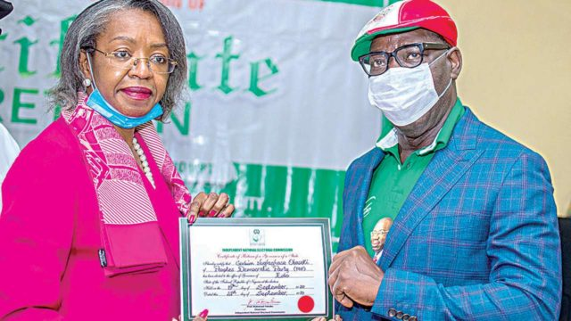Obaseki receives certificate of return, seeks support from OshiomholeNigeria