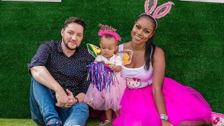 Yvonne Nelson, Jamie Roberts and their daughter