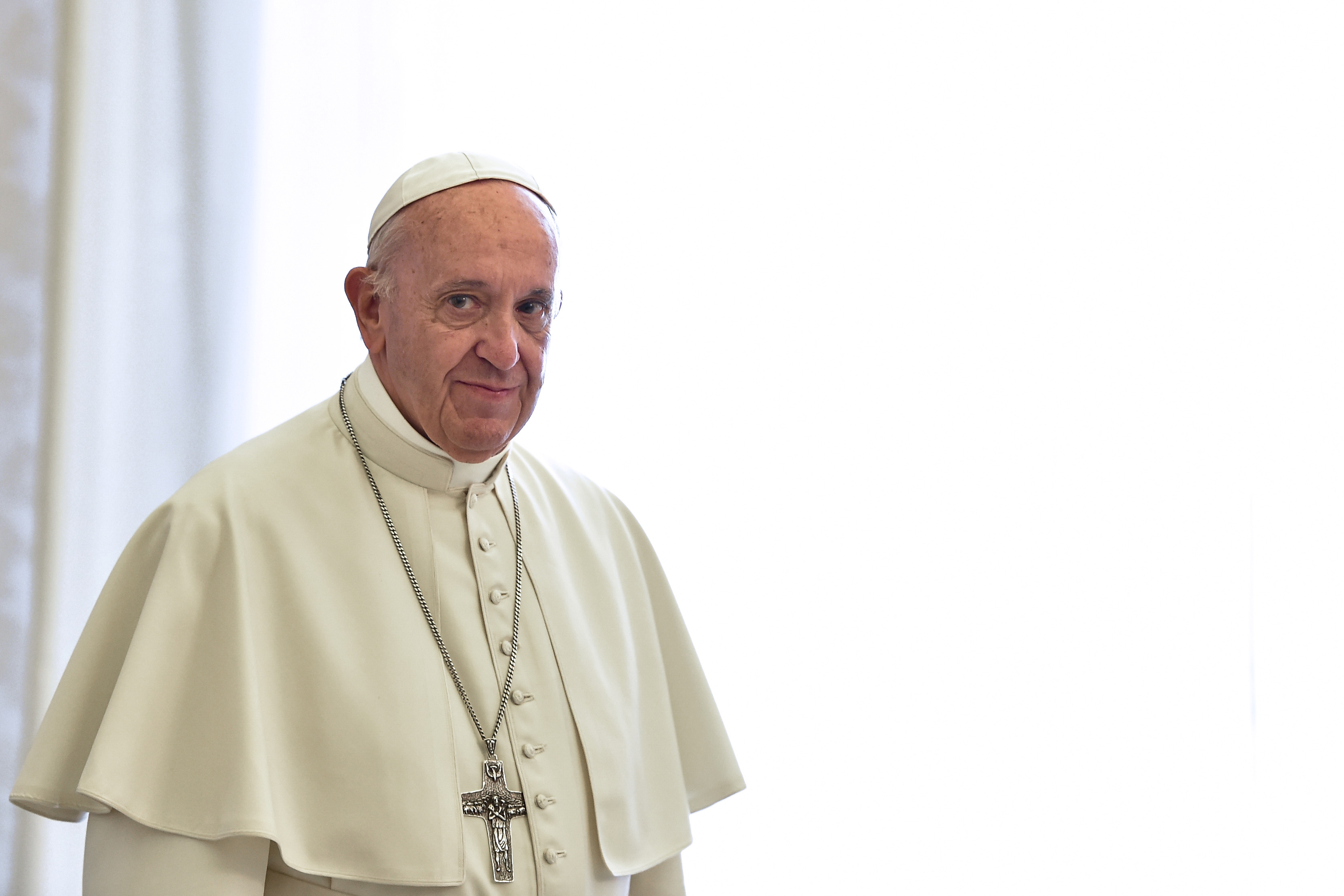 Pope Francis Encourages Social Distancing At General Audience