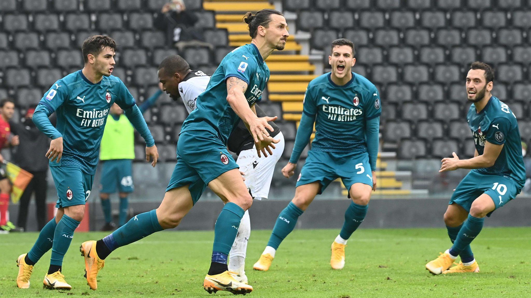 Ibrahimovic overhead kick seals AC Milan win at Udinese
